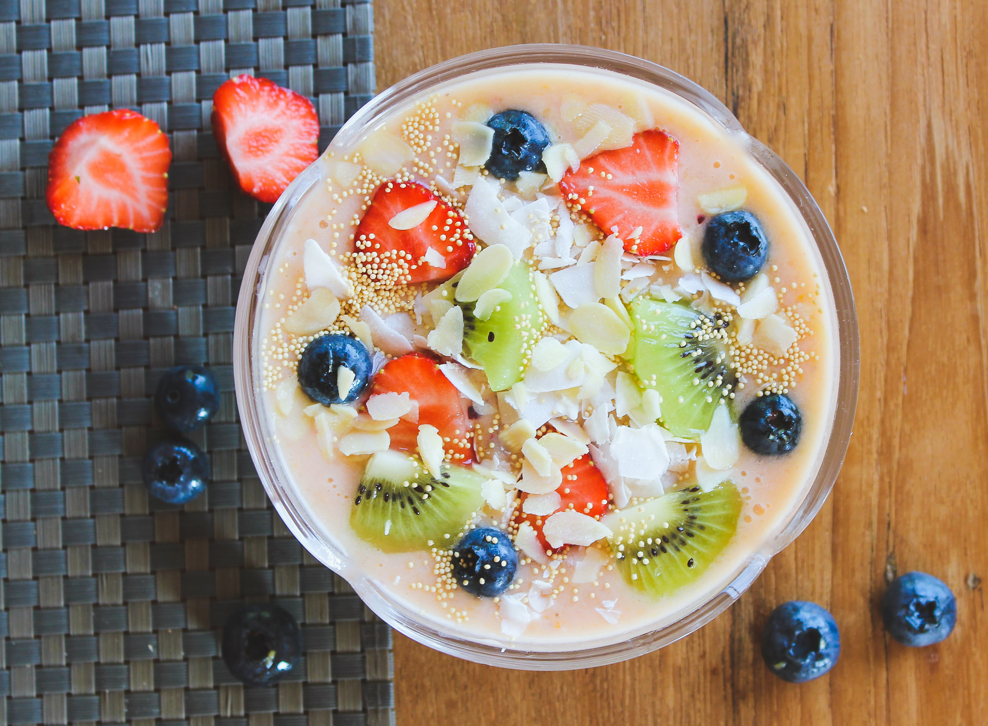 Mango Strawberry Smoothie Bowl